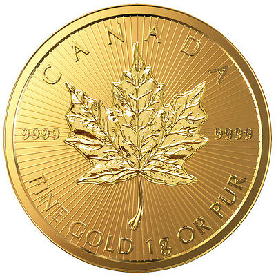 1 Gramm Gold Maple Leaf 2016 Goldmünze 999,9 im Blister aus Maplegram8