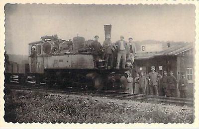 LOCOMOTIVE - GARE - SOLDATS - Collection PEREVE - PHOTO
