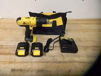 "DeWalt Cordless Drill Driver Kit 1/2"" Keyless Chuck 1500 Max RPM Model #DCD771C2"