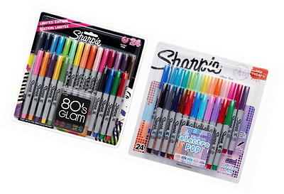 Sharpie Ultra-Fine Point Permanent Markers, 80s Glam and Electro Pop Colors, 48