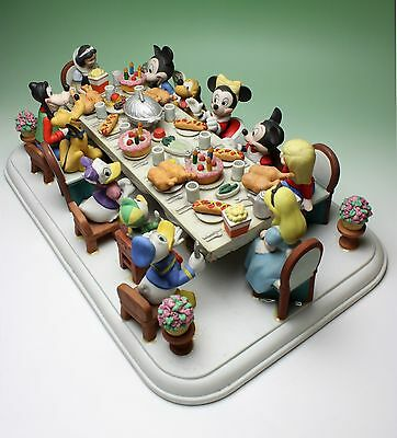 Disney Character Christmas Party Porcelain Figurines from Makers Sample Showcase