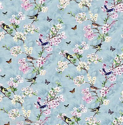 Dolls House Wallpaper 1/12th 1/24th scale Birds Blue Quality Paper #400