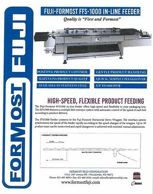 Fuji Formost FFS-1000 In-Line Feeder Packaging Equipment