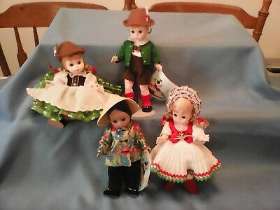 Madame Alexander 1980s International Dolls - Selling as a Lot Five Dolls