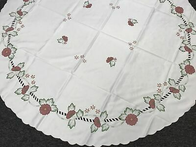 """Vintage Embroidery Handmade Bobbin Lace 100% Cotton Tablecloth Runner 16x36"""""""