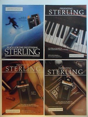 Nice Lot of 9 Different Sterling Cigarettes Magazine Print Ads
