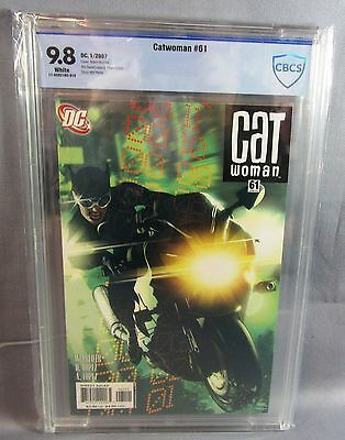 CATWOMAN #61 (Adam Hughes Cover) White Pages CBCS 9.8 NM/MT DC 2007 cgc