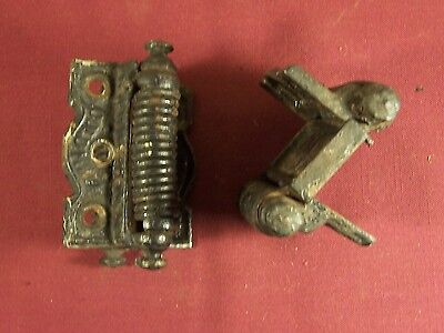 Pair Of Antique Matching Columbia Double Acting Spring Hinges Victorian Eastlake