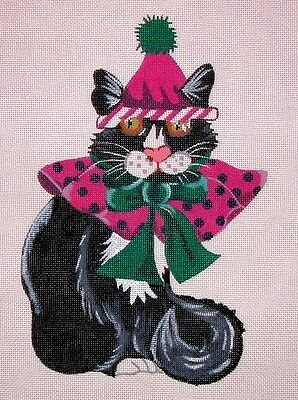 "KW 935 ""Emmit the Cat"" by TS Designs Hand Painted Needlepoint Canvas"
