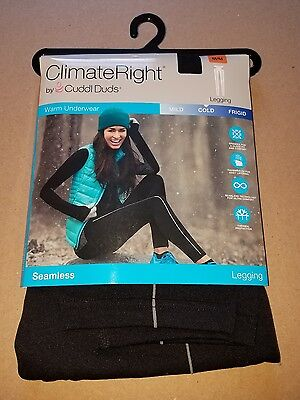 CLIMATE RIGHT CUDDL DUDS Seamless Legging Black Medium Med M Free Shipping Pants