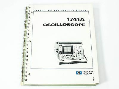 HP Oscilloscope Operating and Service Manual 1741A