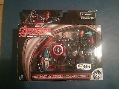 "Marvel Avengers Age of Ultron Black Widow and Captain America 3.75"" Figure"