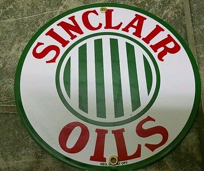 Sinclair Oils Gas Oil Porcelain advertising Sign...~9 inch