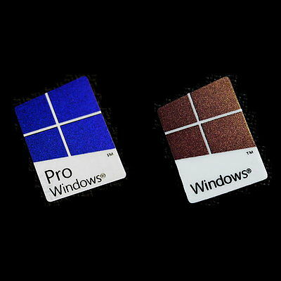 1x Windows 10 Pro/Windows 10 Case Badge Logo Sticker - PVC Colors
