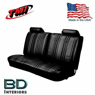 1969 Chevy El Camino Front Bench Seat Upholstery Black Made In Usa