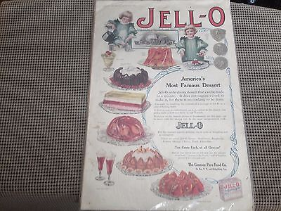 1911 Oversized Jell-O Ad Page 10X15