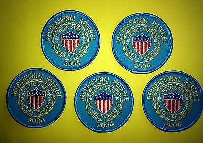 5 Lot 2004 USSF United States Soccer Federation Referee Football Jersey Patches