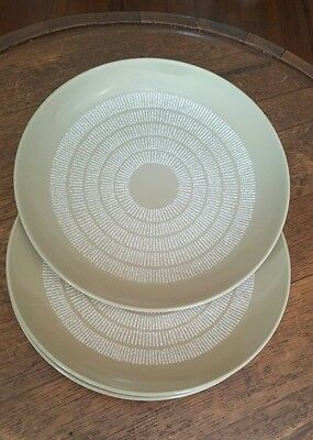 4 Vintage Crown Lynn Egmont Ironstone Dinner Plates