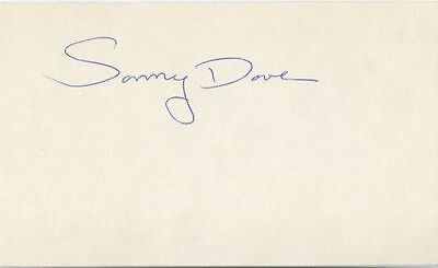 Sonny Dove ABA legend signed 3x5 index card NY Nets Pistons D. 1983 at 37