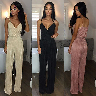 NEW Ladies Women Clubwear Summer Playsuit Bodycon Party Jumpsuit Romper Trousers