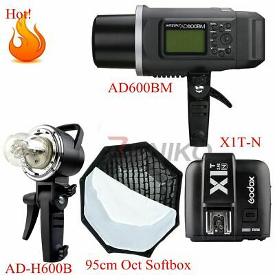Godox AD600BM HSS 2.4G Outdoor Flash Light Kit + X1T-N Trigger for Nikon+Softbox