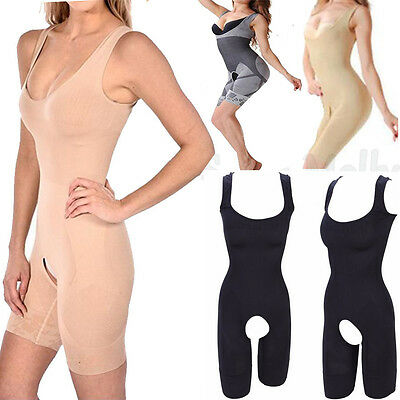 Full Body Shaper Underbust Corset Thigh Firm Tummy Control Waist Cincher Trainer