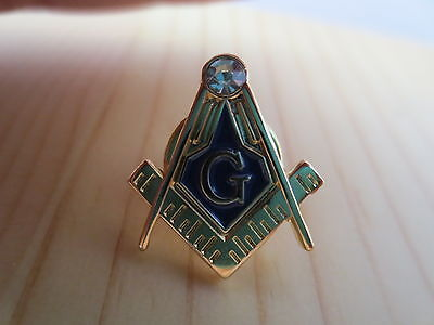 Masonic Lapel Pins Badge Mason Freemason B9 Rhinestones