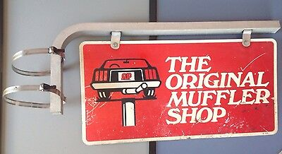 Original Vintage AP - THE ORIGINAL MUFFLER SHOP 2-Sided Metal Service Shop Sign