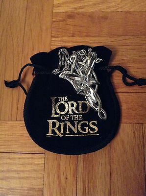 LOTR Lord of the Rings Arwen Evenstar Pendant/Necklace with LOTR Pouch