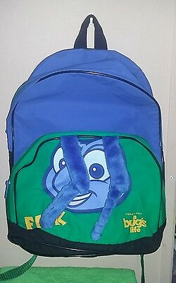 Vintage A Bugs Life Flik Backpack Book Bag Back to School