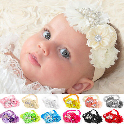 Kids Girl Baby Headband Toddler Lovely Crown Flower Hair Band Head Accessories