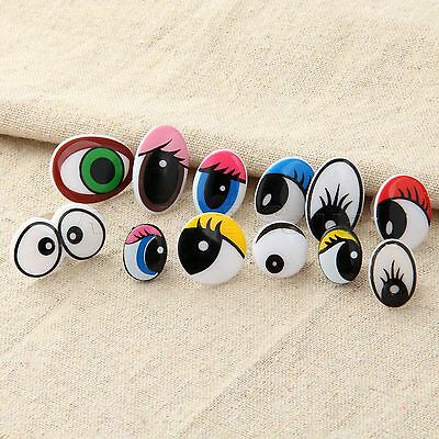 10/50pcs 12Sizes Plastic Cartoon Eyes F Kid Toy Teddy Bear Doll Puppet W Washers