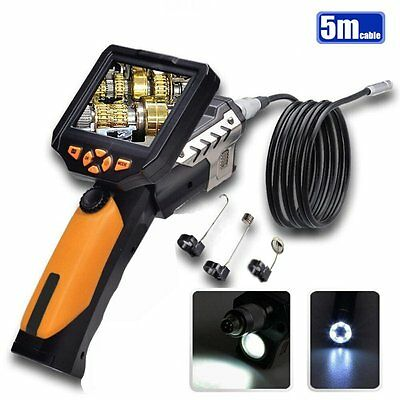 "TESLONG NTS200 3.5"" LCD Borescope USB Endoscope 8.2mm 5M Probe 0.3MP Coms Camera"