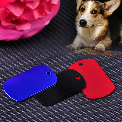 Charm Personalized Pet ID Tag Engraved Double Sides Aluminum Blank Dog Cat Name
