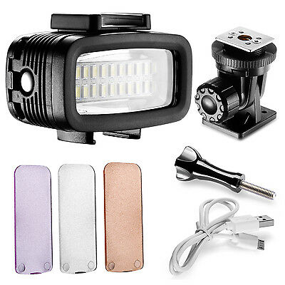 Neewer Flash LED Subacqueo 40m Dimmerabile & Filtri per Gopro Hero Action Cam