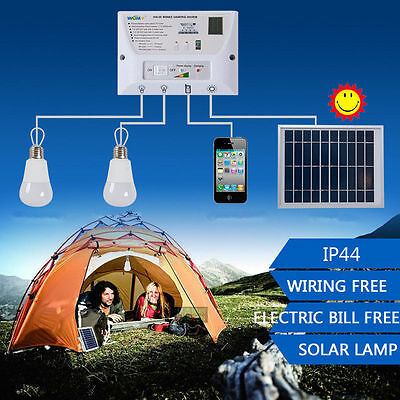 Solar Power Portable LED Camping Lantern Light Systen Mobile Phone Charger