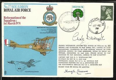 Sir Hugh Chance Chaz Bower 1916 27 Sqn RFU members signed squadron cover AM03