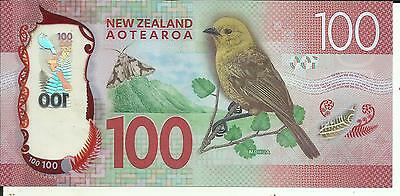 New Zealand 100 Dollars 2016. Unc Condition. 5Rw 12Gen