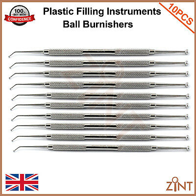 Ball Burnisher Amalgam Plastic Filling Instruments Dentistry Composite Tools CE