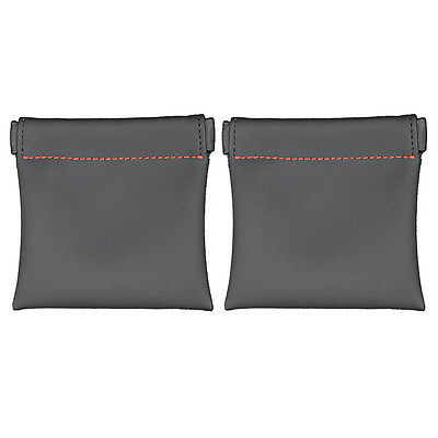 2x8.5*8cm PU Leather Carry Storage Safe Pouch Case Bag For Earphone Portable