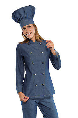 Giacca Cuoca Chef Donna Lady Jeans Isacco Made In Italy Woman Jacket 廚師外套的女人