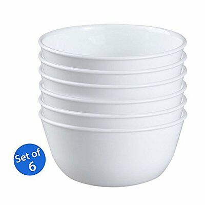 Corelle Livingware 1032595 28oz Super Soup/Cereal Bowl Winter Frost White Set of