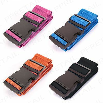 PACK OF 4 STRONG & SECURE SUITCASE STRAP Luggage ID Tie Down Belt Holdall/Case