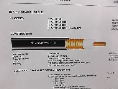 """NKRFA07800 Spool of 7/8"""" Coaxial Cable from Draka."""