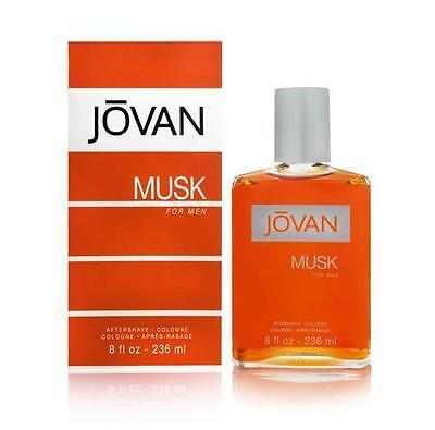 Jovan Musk By Coty Men 8 OZ 236 ML After Shave / Cologne Splash New In Box