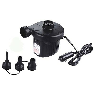Portable Electric 12V Air Pump For Inflatable Airbed Boat Pool Ball Camping Pump