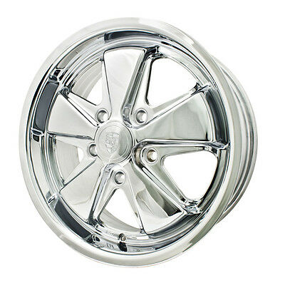 "EMPI VW Bug, Ghia, Bus, Thing, T3 00-9679-0 911 Alloy 15"" x 5.5"" 5x130 Wheel"