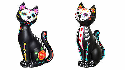 NEW Mexican Skull Sugar Kitty Puss Day Of The Dead Cat Decoration Gift Ornament