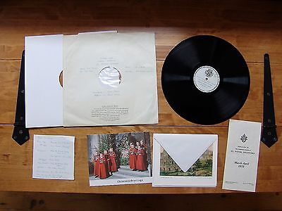 """POSTERITY BUNDLE PRIVATE LP """"Choral Evensong Bradford Cathedral"""" 20th March 1968"""