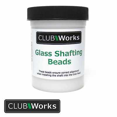 Real glass golf club shafting beads / Glass beads - 4 oz Tub (112 grams)